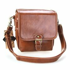 Women's Waterproof Vintage PU Leather SLR Camera Bag Case Messenger Shoulder Bag