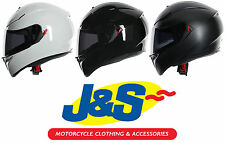 AGV K3 SV MOTORCYCLE HELMET MOTORBIKE PLAIN MOTORCYCLE FULL FACE RACING RACE J&S
