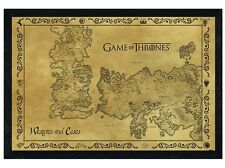 New Black Wooden Framed Game Of Thrones Map Antique Map