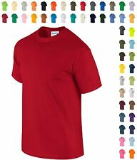 Mens Cotton T-Shirt Short Sleeve S-3XL 4XL 5XL Plain Tee Summer Top Gildan Ultra