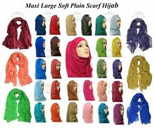 ❤️ BIG LARGE MAXI LADIES PLAIN HIJAB 100% VISCOSE SHAWL SCARF SARONG PLAIN HIJAB