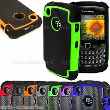 Anti-choc Double Silicone & Rigide Defender étui coque BlackBerry 8520,9300