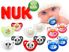 2pc ORTHODONTIC NUK SOOTHER BABY DYNAMIC PACIFIER DUMMY TEAT SAFE COLOURFUL