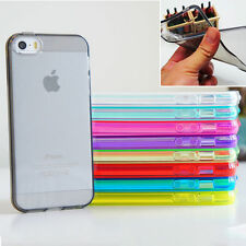 Trasparente TPU morbido custodia in silicone gel cover Per iPhone 4 4S 5 5S 5C 6