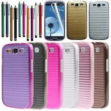 Case Cover For Samsung Galaxy S3 SIII i9300 New Aluminium Metal Line Hard Back