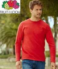 T-SHIRT FRUIT OF THE LOOM VALUEWEIGHT MANICA LUNGA 165 gr 100% COTONE MAGLIETTA