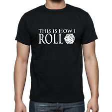 20 Dice This is how I Roll Dungeons and Dragons Novelty T shirt Board Game Geek