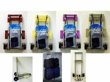 NEUF PLIABLE DE LUXE CHARIOT BAGAGES SAC COURSES VALISE SUPPORT AVEC ROUES