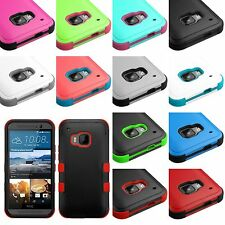 For HTC ONE M9 - HARD & SOFT RUBBER HYBRID HIGH IMPACT ARMOR SKIN CASE COVER