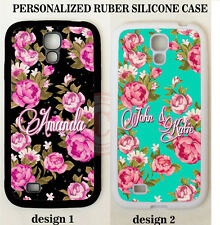 SHABBY CHIC PINK FLORAL MONOGRAM PHONE Case For Samsung Galaxy S7 S6 S5 NOTE 7 5