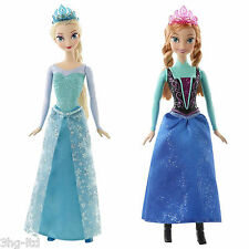 "Disney Frozen Sparkle Anna or Elsa Doll 12"" Official Licensed Mattel New Boxed"