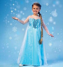 Girls Frozen Queen Elsa Anna Ice Princess Costume Party Fancy Dress Tiara Shoes