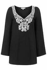 Topshop Embellished Cape Shift Dress by Rare London - Black - RRP £55 - New