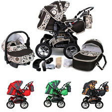 Baby Pram Buggy Pushchair Stroller Dynamic Lux Car seat + Carrycot Baby bag