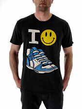 Local Celebrity T-Shirt Tee Shirt schwarz Happy Shoes Rundhals kurzarm