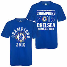Chelsea FC Official Football Gift Mens Champions 2015 T-Shirt Blue