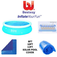 BESTWAY FAST SET EASY SET SWIMMING POOL SOLAR COVER HELPS HEAT THAT POOL NEW