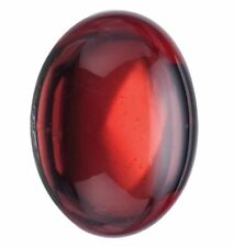 NATURAL FINE DEEP RED GARNET - OVAL CABOCHON - MOZAMBIQUE - TOP GRADE