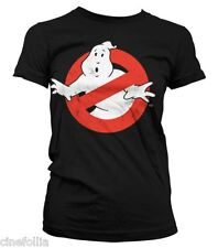 T-shirt Ghostbusters Distressed Logo vintage maglia Donna by Hybris
