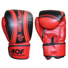 AQF Rex Leather Boxing Gloves Fight Punch Bag MMA Muay Thai Grappling Pads UFC B