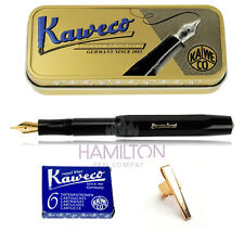KAWECO CLASSIC SPORT FOUNTAIN PEN GIFT SET - pen, clip, cartridges & gift tin
