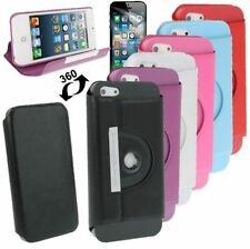 360 DEGREE ROTATABLE Custodia protettiva di pelle con supporto per iPhone 5,5g