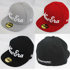 NEW ERA 59fifty NEW YORK SCRIPT FLACHE KAPPE ENGANLIEGEND SCHWARZ ROT
