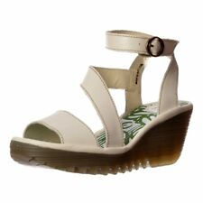 Womens Fly London Yesk Leather Wrap Around Ankle Strap Summer Sandal Wedge Size