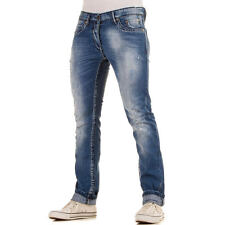 LUXUS NEU DESIGNER HERREN 7556 REGULAR FIT DESTROYEDJEANS Blau 0€
