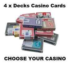 4 X DECKS OF LAS VEGAS CASINO CARDS - 30+ TO CHOOSE FROM ALL POPULAR CASINOS