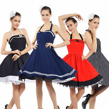 1950s Vintage Retro Rockabilly Pinup Swing Cocktail Prom Evening Housewife Dress