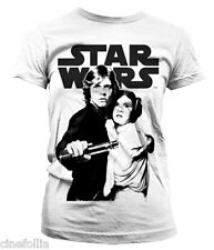 T-shirt Star Wars Vintage Poster Leia & Luke maglia donna ufficiale by Hybris