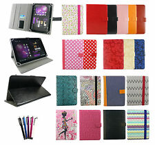 Stylish Universal Wallet Case Cover with Stand fits 7 Inch Tablet & Stylus Pen