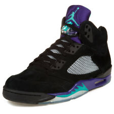 "Nike Mens Air Jordan 5 Retro ""Black Grape"" Black/New Emerald- Ice 136027-007"
