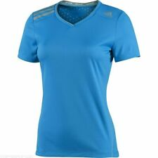 adidas Womens Short Sleeved ClimaChill V Neck Running/Fitness Tee D80091