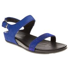 New Womens FitFlop Blue Banda Leather Sandals Buckle