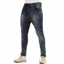 LUXUS NEU DESIGNER hr55 SLIM FIT USED SAROUEL HERRENJEANS Blau 0€