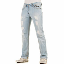 LUXUS NEU DESIGNER w850 REGULAR FIT DESTROYED HERRENJEANS Blau 0€