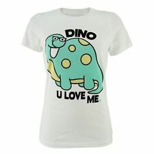 Goodie Two Sleeves Girl-Shirt DINO U LOVE ME white