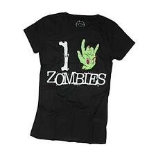 Goodie Two Sleeves Girl-Shirt I LOVE ZOMBIES black