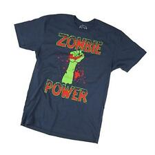 Goodie Two Sleeves Men-Shirt ZOMBIE POWER blue