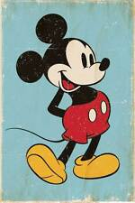 Disney - Mickey Mouse Retro FIlm Tv Kinder Poster Plakat Druck