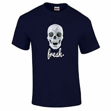 Fresh To Death Diamond Skull Hipster Dope Swag Premium Quality T-Shirt S-5XL