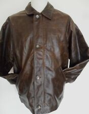 AVIREX Coat Men's Leather Jacket Vintage Brown Black Brand New Size: X-Large