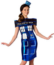 TARDIS DRESS Doctor Dr Who BBC TV Sci Fi Womens Fancy Dress Costume 888685