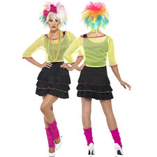 Ladies Sexy 1980s 80s Pop Tart Neon Rave Retro Icon Fancy Dress Costume Outfit