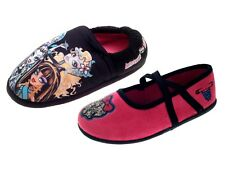 Kids Girls Official Monster High Slippers Mules Character Shoes Size UK 10 - 2