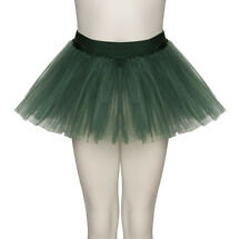 Girls Ladies Forest Green Ballet Dance Fancy Dress 3 Net Layer Tutu Skirt Katz
