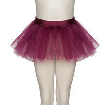 Girls Ladies Burgundy Ballet Dance Fancy Dress 3 Net Layer Tutu Skirt By Katz