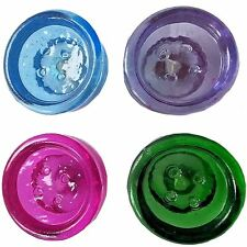 NEW COLOURFUL GLASS BUTTON SHAPED KNOBS DRAWER PULLS DOOR HANDLES RETRO CHILDREN